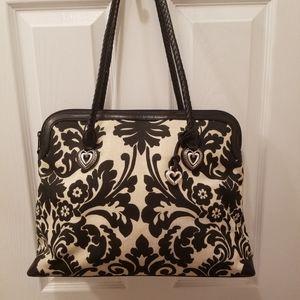 Brighton canvas bag with leather trim